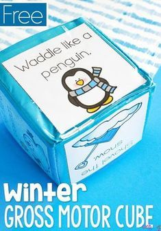 This winter themed gross motor brain break cube is sure to be a hit with the kids! A quick activity to get the kids moving during the cold winter months. Winter Activities for Kids Winter Activities For Kids, Winter Crafts For Kids, Winter Fun, Toddler Activities, Learning Activities, Preschool Winter, Winter Games, Kids Learning, Toddler Preschool