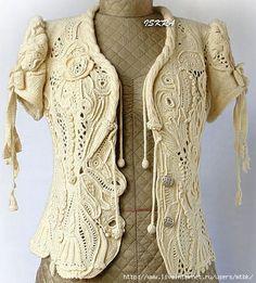 freeform crochet jacket top - awesome