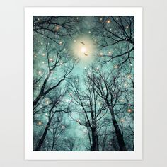 Nature Blazes Before Your Eyes (Mint Embers) Art Print by Soaring Anchor Designs   Society6