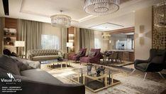 Neoclassical Interior, Cairo Egypt, Studios, Conference Room, Reception, Villa, Curtains, City, Table