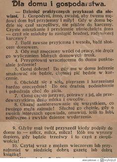 Wykop.pl - Zobacz: Dziesięć praktycznych przykazań dla niewiast z 1904 r.