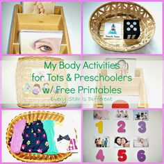 My Body Activities for Tots & Preschoolers w/ Free Printables from Every Star Is Different