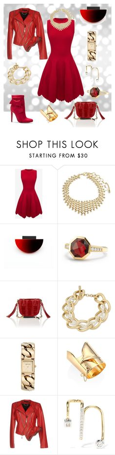 """Stop Light"" by trescrwndgg ❤ liked on Polyvore featuring Alexander McQueen, Amrita Singh, David Yurman, KimiKa, Okapi, Kenneth Cole, Anne Klein, Eddie Borgo, Mangano and Maria Black"