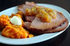 Ginger-Ale Ham with Sweet Potatoes and Apple-Ginger Chutney