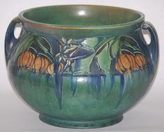 Roseville Pottery Baneda Green