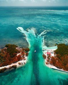 The Split, Caye Caulker, Belize Caye Caulker Belize, Places To Travel, Travel Destinations, Weather In Belize, Belize City, Destination Voyage, Beautiful Places To Visit, Hawaii Travel, Central America