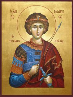 Byzantine Icons, Byzantine Art, Art Icon, Religious Icons, Saint George, Orthodox Icons, Christian Art, Christianity, Art For Kids