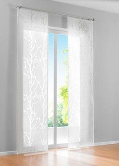 """Schiebegardine """"Roya"""" von bpc für halbtransparente Einblicke - Another! Modern Curtains, Kitchen Curtains, Panel Curtains, Curtain Panels, Decor Styles, My House, Blinds, Sweet Home, Shed"""