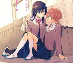 Yuu y touko Anime Girlxgirl, Kawaii Anime, Anime Art, Manga Yuri, Yuri Anime, Anime Couples, Cute Couples, Yuri Comics, Nerd