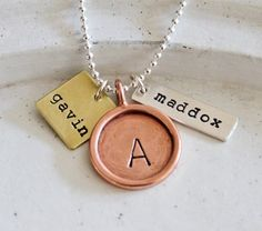 Personalized Necklace Hand Stamped Jewelry by TheSilverWren