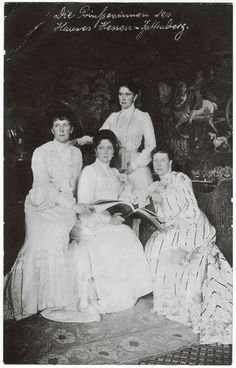 """AC """"The Four Graces"""" - Hessian granddaughters of Queen Victoria: Marchioness Victoria of Milford-Haven, Grand Duchess Elizaveta Feodorovna of Russia, Princess Irene of Prussia and Empress Alexandra Feodorovna of Russia, early Queen Victoria Family, Victoria Reign, Queen Victoria Prince Albert, Victoria And Albert, Princess Victoria, Princess Alice, Prince And Princess, Anastasia, Alexandra Feodorovna"""