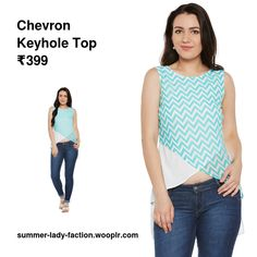 Chevron Keyhole Top - #Skirts #Kurtis #Suits #OnlineStore #Trousers #Ballerinas #Handbag #Sandals