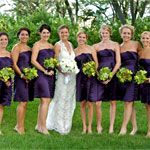 purple/green- short for summer? the bouquets need more purple in them