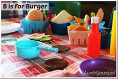 """""""B is for Burger"""" Dramatic Play"""