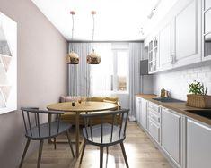 idei de amenajare bucatarii moderne in garsoniere mici Small Kitchen Renovations, Apartment Renovation, Design Case, Decoration, Kitchen Dining, Sweet Home, New Homes, House Design, Interior Design