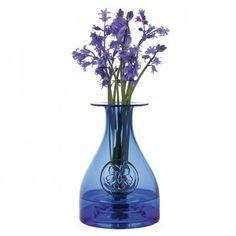 Flower Bottle Primrose Blue - Flower Bottles - Giftware Collections - Gifts   Dartington Crystal
