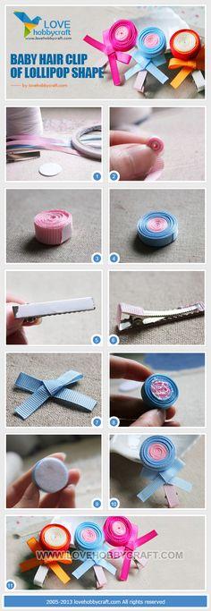 Baby hair clip of lollipop shape