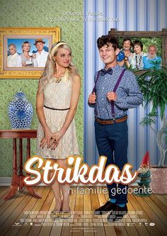 """On 2 April, offbeat romantic comedy """"Strikdas – 'n familie gedoente"""" will be the first Afrikaans feature film to be released worldwide simultaneously, in theatres across South Africa, and to intern… 2015 Movies, Hd Movies, Movies Online, Movies And Tv Shows, Films, See Movie, Film Movie, Cinema Online, Movie Sites"""