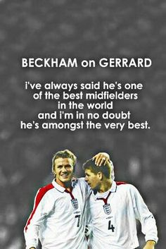 Becks on Stevie G.