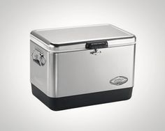 Coleman Stainless Steel Cooler on Woodsly.com
