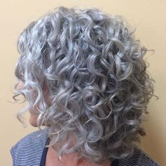 Short Curly Hairstyles For Women, Over 60 Hairstyles, Permed Hairstyles, Short Hair Cuts, Curly Short, Hairdos, Grey Curly Hair, Curly Hair Styles, Crochet Braid Styles