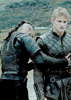 "Vikings Meme: [1/3] Moments // 2.04 - Ragnar, Lagertha and Bjorn's reunion. ?R: ""And you are?"" B: ""I'm your son-"""