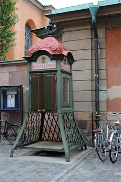 Unusual Telephone Booths in Old Town. February Photo Challenge, Et Phone Home, Stockholm Archipelago, Telephone Booth, Vintage Phones, Yarn Bombing, Learn To Dance, The Beautiful Country, Dream City