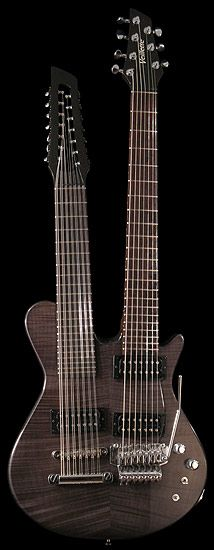 Veillette guitars Custom Gryphon 14/7 Mahogany Flame Maple Smoke # 729  for Neil Schon