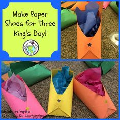 Mundo de Pepita: Making Paper Shoes for Three King's Day-DIY How To Plus Tips for the Classroom