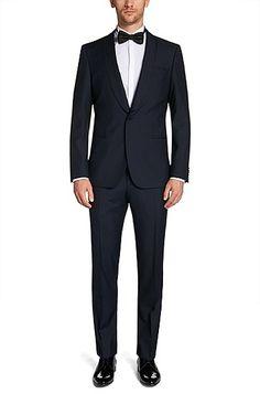 Henry/Glow | Slim Fit, Silk Virgin Wool Tuxedo @ #MensFashionTips