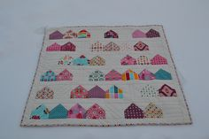 Neighborhood Charm Quilt Finished by Scraps For Omi, via Flickr