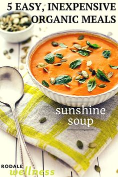 This organic tomato soup serves 4 and costs just $2.58 per serving.