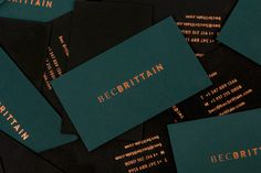 Branding and catalog design for Bec Brittain, a New York based lighting and product designer driven by luxurious materials, intuitive forms and forward-thinking technology. Luxury Business Cards, Business Card Design, Creative Business, Stationery Design, Branding Design, Logo Design, Graphic Design, Brochure Design, Design Design