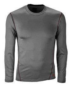 Take a look at this Gray Base Layer Sports Tee - Men by New Balance on #zulily today!