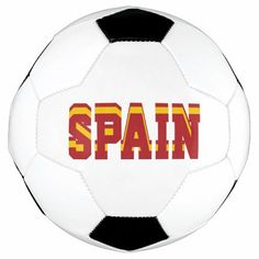 Spain Champion Soccer Ball Spanish Flag Colors