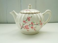 W S George Blossom Teapot with 24k Trim