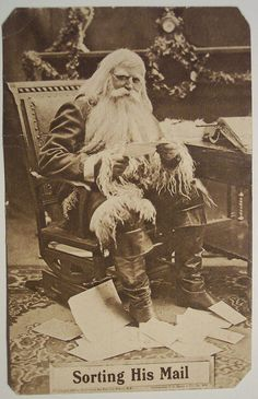 Christmas Santa Postcards and Vintage Illustrations