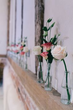 Charming Outdoors Barn Wedding Roses Bottles http://www.brighton-photo.com/