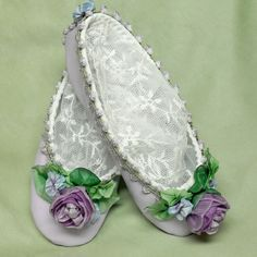 Fairy Princess Ballerina Shoes Roses Ribbon by lambsandivydesigns, $64.95  Mommy can do this