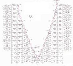 V neck crochet diagram - website is in spanish