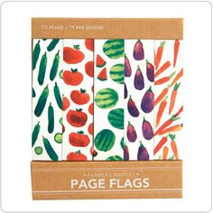 Farmers Market Page Flags (How cute would these be for marking recipes in cookbooks!)