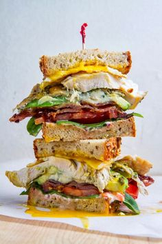 Food Fans, boozybakerr:   Roast Turkey Cobb Sandwich  ...