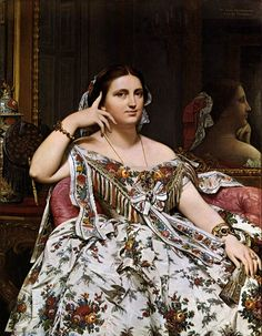 INGRES, Jean-Auguste-Dominique Madame Moitessier 1856 Oil on canvas, 120 x 92 cm National Gallery, London