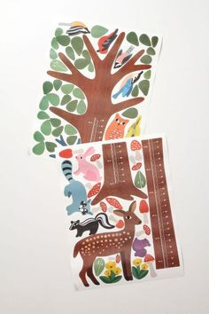Wallies Woodland Growth Chart - anthropologie.com