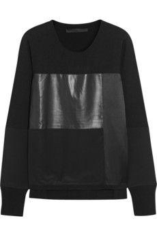 Karl Lagerfeld Breeze paneled jersey and crepe sweater | NET-A-PORTER