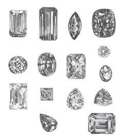 Diamond drawings by Carsten Oliver Bieräugel.
