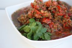 Fermented salsa-if you can't use whey you can use the juice of fermented sauerkraut or another veggie based culture