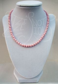 Pink Pearl Necklace - SOLD   Handmade Jewelry by Lizzie's Notions on Etsy