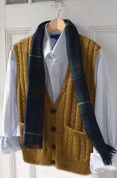 Ravelry: ML186 Men's Best Vest by Maddy Cranley