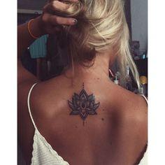 first tattoo was a success. Lotus Flower - tattoo -my first tattoo was a success. Lotus Flower - tattoo - 🌺Lotus Flower Tattoo Design to the one and only 🌺 Buy Inkshop Waterproof Temporary Tattoo Tattoo Back Girl, Tattoo Girls, Girl Neck Tattoos, Finger Tattoos, Body Art Tattoos, Lotus Tattoo Back, Tattoo On Back, Back Of Neck Tattoos For Women, Mandala Tattoo Back